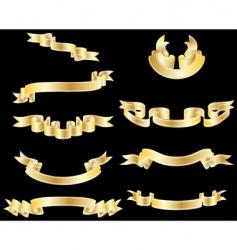 ribbon set vector image vector image