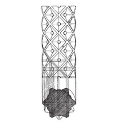 romanesque decorated shaft ornamented vintage vector image