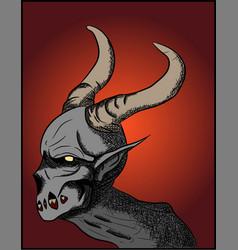satan demon halloween concept vector image