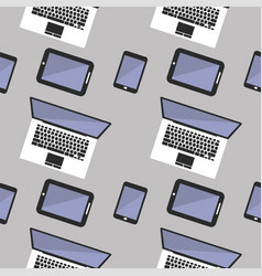 seamless background with laptop computer vector image