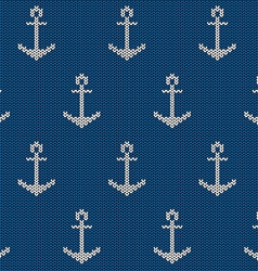 Seamless pattern with sea anchor vector