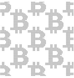 seamless pattern with sign bitcoin vector image