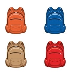 Set backpack vector image
