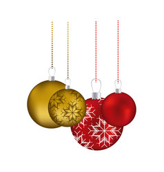 set collection garlands christmas holding with vector image