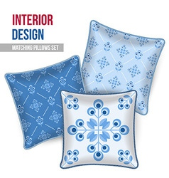 Set of decorative pillow vector