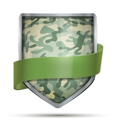 Shield with flag Camouflage vector image