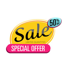 special offer sale proposition isolated sticker vector image