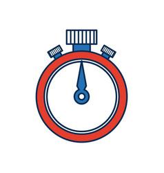 stopwatch chronometer precision timepiece flat vector image