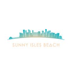 Sunny isles beach skyline silhouette design vector