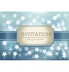 Template frame design for Invitation vector image
