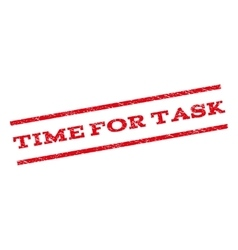 Time For Task Watermark Stamp vector image