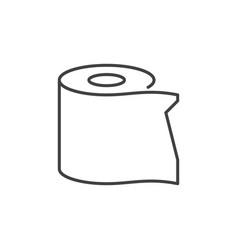 Toilet paper outline concept minimal icon vector