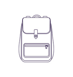 Travel backpack linear isolated icon vector