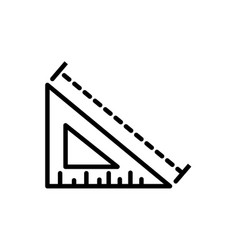 Triangle ruler measure architecture icon line vector