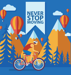 triathlon track never stop moving concept banner vector image
