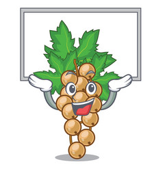 Up board white currant isolated with the cartoons vector