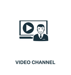 Video channel icon symbol creative sign from vector