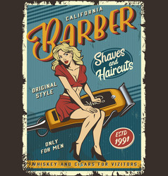 Vintage barbershop poster vector