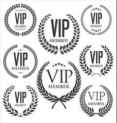 vip member laurel wreath collection vector image