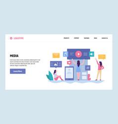 web site gradient design template online vector image