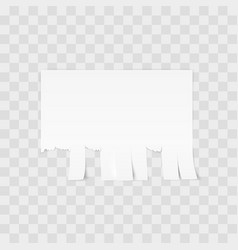 White advertisement tear-off paper template on vector