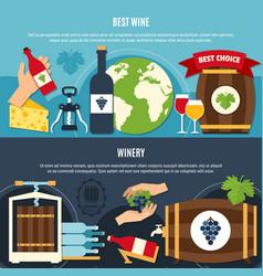 Wine banners set vector
