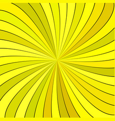 Yellow psychedelic abstract spiral stripe vector