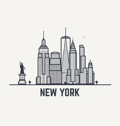 Balck and white lines New York copy vector image