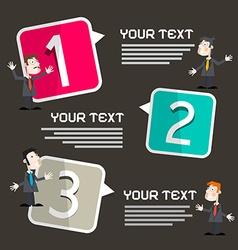 Infographics Template with Men - Businessmen vector image vector image
