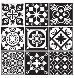 vintage monochrome repeating tiles moroccan vector image vector image