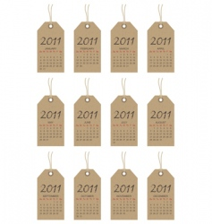 calender tags for 2011 vector image vector image