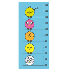 children meter wall vector image vector image