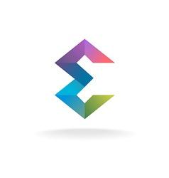 Letter E geometric logo vector image vector image
