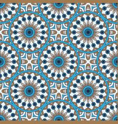 Mandala texture in bright colors seamless pattern vector