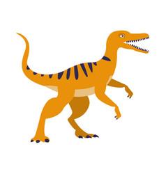 orange raptor dinosaur of jurassic period vector image vector image