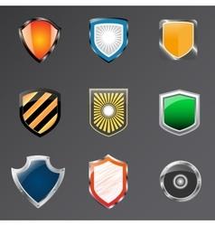 Shield logo icon design template elements vector image vector image