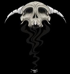 skull genie vector image vector image
