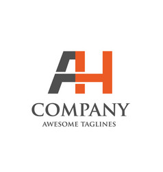 creative letter ah logo vector image