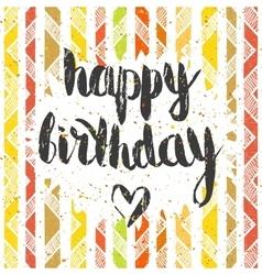 Handwritten inscription Happy birthday vector image