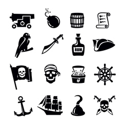 Pirates icon vector