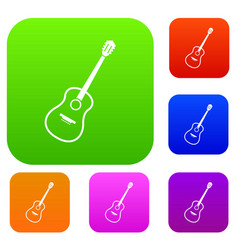 charango set color collection vector image vector image