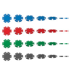 creative of set casino poker vector image