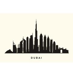 Dubai skyline silhouette vector
