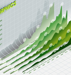 infographic set elements in green vector image