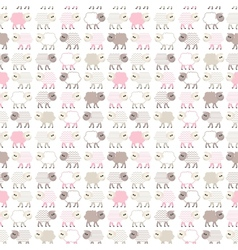 Seamless pastel pattern with sheep vector image