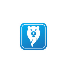 Bear head and face for logo design in shape vector