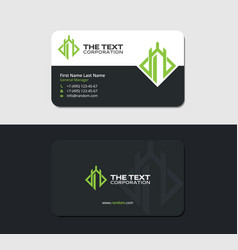 Black business card for grand resort vector