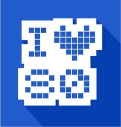 blue love 80 icon vector image