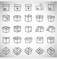 box line icons set on white background for graphic vector image
