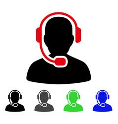 Call center operator flat icon vector